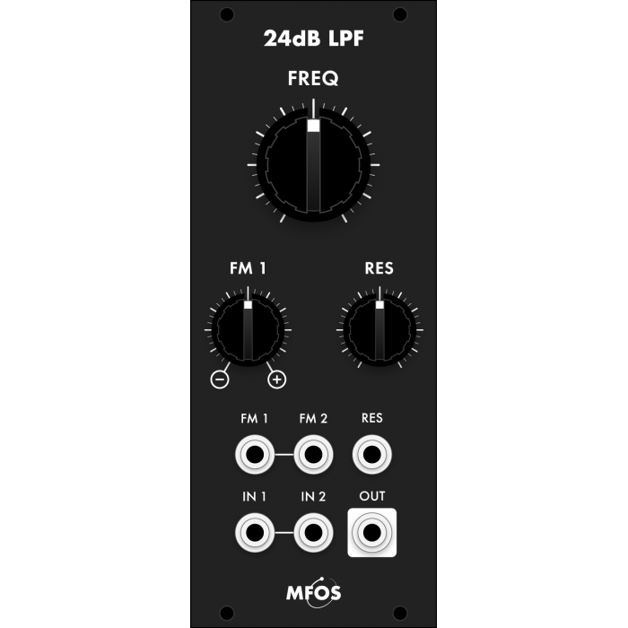 mfos euro 24dB LPF smt, black version