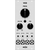 mfos euro vco smt, grayscale version